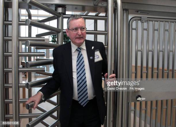 Scottish community safety minister Fergus Ewing pays a visit to HMP Edinburgh in Saughton as mobile phones are banned in Scotland's jails