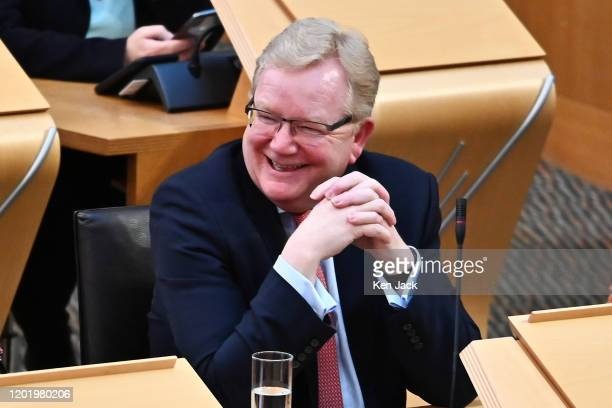 Scottish Conservative leader Jackson Carlaw during his first First Minister's Questions in the Scottish Parliament since being confirmed as party...