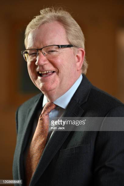 Scottish Conservative leader Jackson Carlaw on the way to First Minister's Questions in the Scottish Parliament on February 27 2020 in Edinburgh...