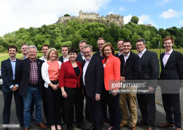 Scottish Conservative leader Ruth Davidson at a photo call with the party's newlyelected members of parliament in front of Stirling Castle Left to...