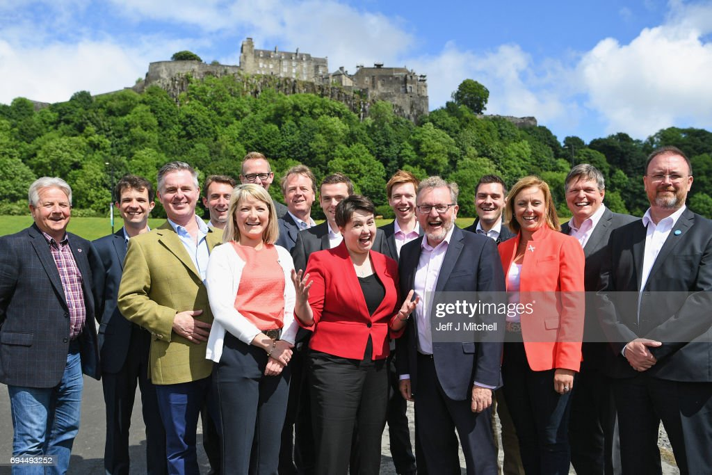Ruth Davidson Introduces Newly Elected Scottish Conservative Westminster MPs : News Photo