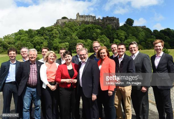 Scottish Conservative leader Ruth Davidson Scotland Secretary David Mundell and Rachael Hamilton MSP at a photo call with the party's newlyelected...