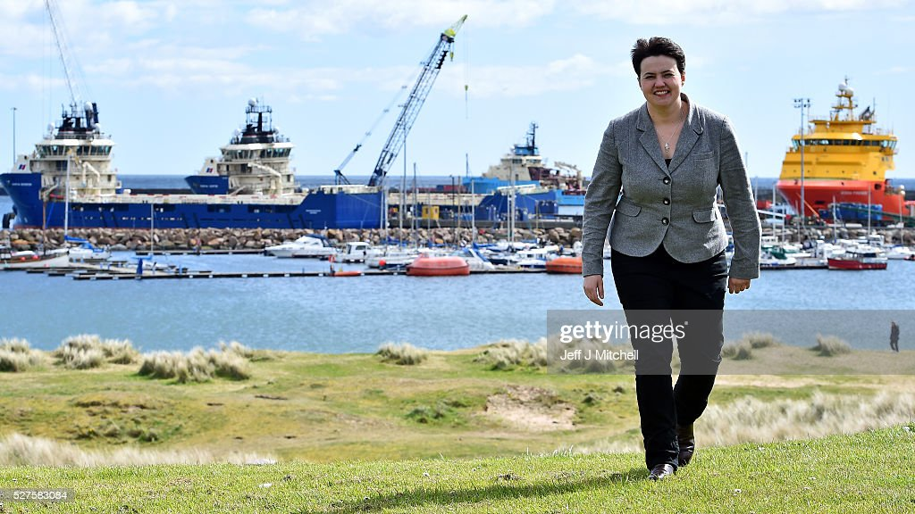 Ruth Davidson Tours Scotland In A Helicopter In The Final Hours Before The Election