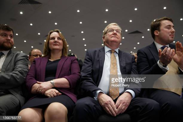 Scottish Conservative leadership contenders Michelle Ballantyne and Jackson Carlaw at the Radisson Hotel in Edinburgh on February 14 2020 in...