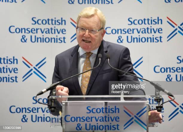 Scottish Conservative leadership winner Jackson Carlaw at the Radisson Hotel in Edinburgh on February 14 2020 in Edinburgh Scotland Following the...
