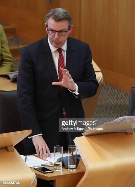 Scottish Conservative MSP Adam Tomkins speaking during a Scottish Government Brexit legislation final vote at the Scottish Parliament in Edinburgh