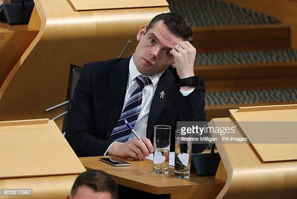 Scottish Conservative MSP Douglas Ross during First Minister's Questions at the Scottish Parliament in Edinburgh.