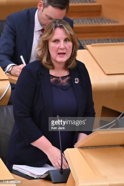 Scottish Conservative MSP Michelle Ballantyne speaking during Topical Questions in the Scottish Parliament where she raised the issue of two cases of...