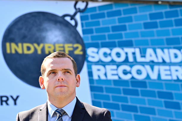 GBR: Ruth Davidson Launches Ad Van With Douglas Ross For The Scottish Conservative Party