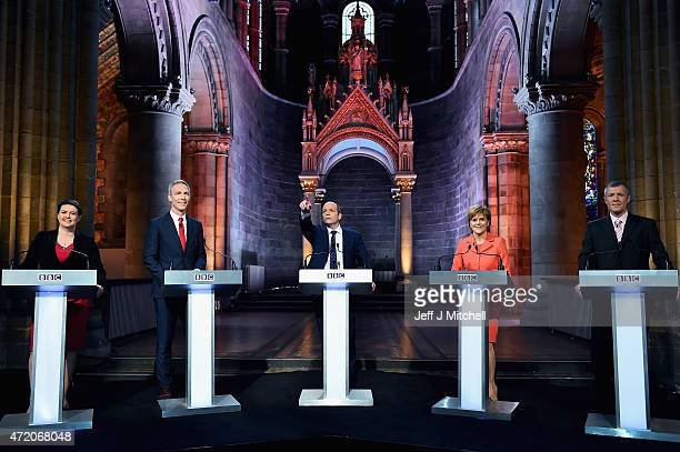 Scottish Conservative Party leader Ruth Davidson, Scottish Labour Leader Jim Murphy, presenter Glenn Campbell First Minister and leader of the SNP...