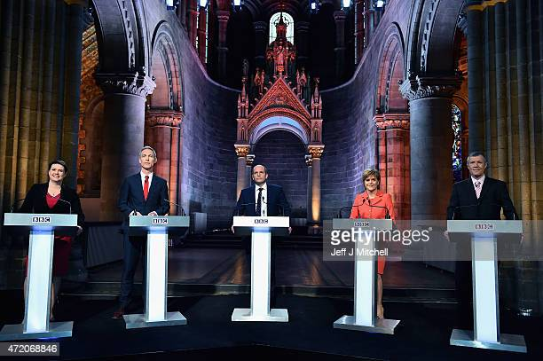 Scottish Conservative Party leader Ruth Davidson Scottish Labour Leader Jim Murphy presenter Glenn Campbell First Minister and leader of the SNP...