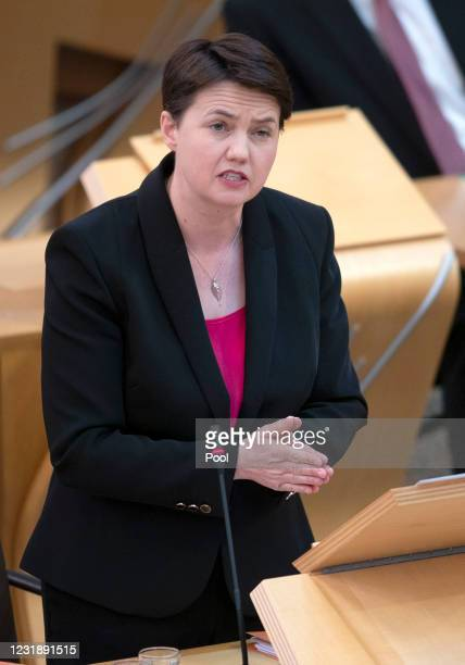 Scottish Conservative Ruth Davidson in the main chamber during the debate on the motion of no confidence against First Minister Nicola Sturgeon at...