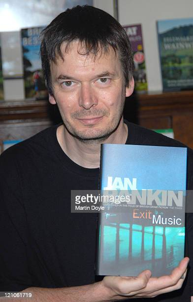 Scottish crime author Ian Rankin signs copies of Exit Music the 20th and final novel in Ian Rankin's Rebus series on October 12 2007 in London