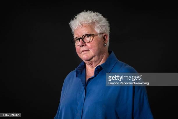 Scottish crime writer Val McDermid attends a photo call during Edinburgh International Book Festival 2019 on August 14, 2019 in Edinburgh, Scotland.