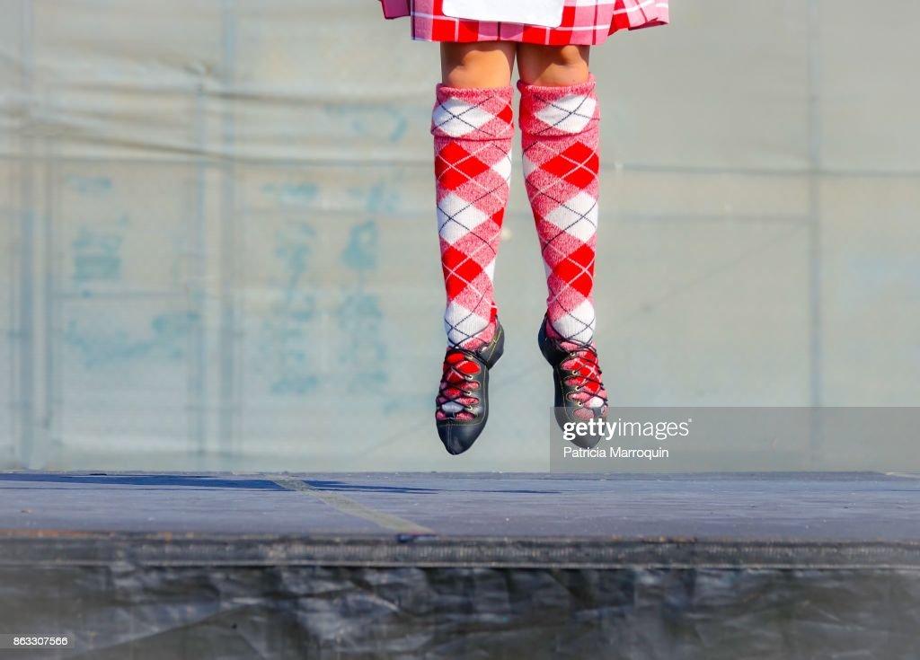 Scottish dancing footwork : Stock Photo