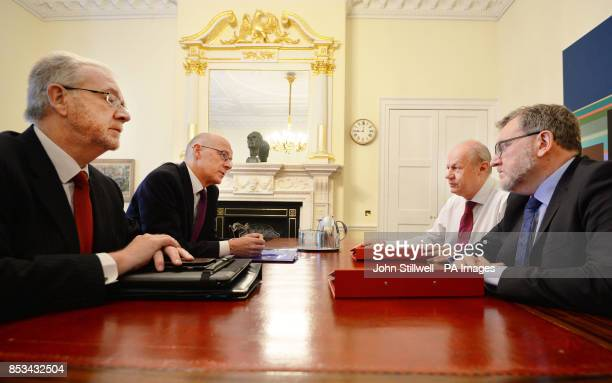 Scottish Deputy First Minister John Swinney and Brexit minister Mike Russell meet First Secretary of State Damian Green and Scotland Secretary David...