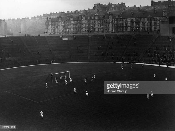 A Scottish Division Two football match between Kilmarnock and Queen's Park at Hampden Park Glasgow 1st December 1951 Queen's Park won the match 10...
