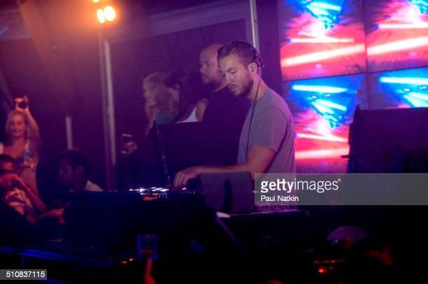 Scottish DJ Calvin Harris performs at the Studio Paris nightclub Chicago Illinois August 2 2014