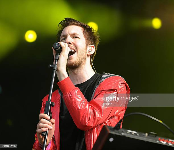 Scottish electronic musician Calvin Harris performs during the second day of the music festival in Hyde Park, Central London on July 5, 2009. AFP...