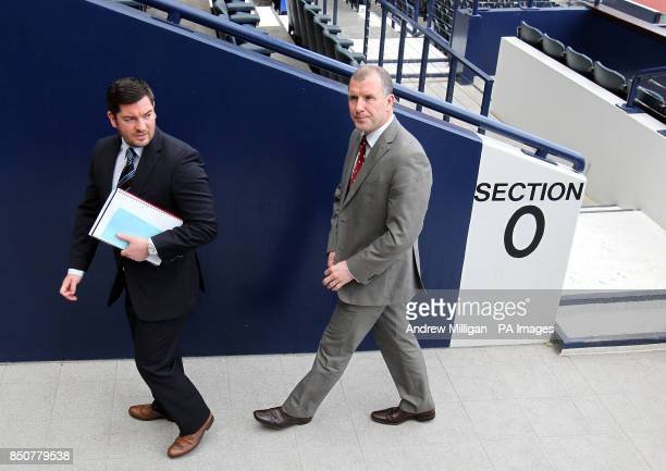 Scottish FA Chief Executive Stewart Regan after announcing William Hill's new twoyear extension as sponsors of the Scottish Cup during a photocall at...
