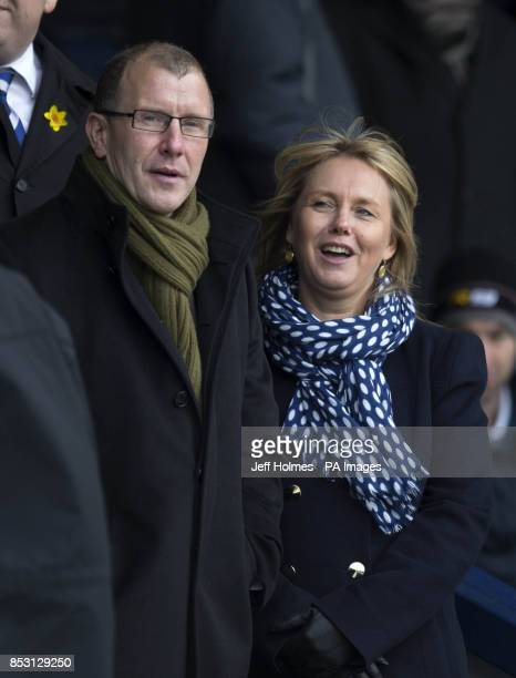 Scottish FA chief Executive Stewart Regan watches during the William Hill Scottish Cup Quarter Final match at Starks Park Kirkcaldy