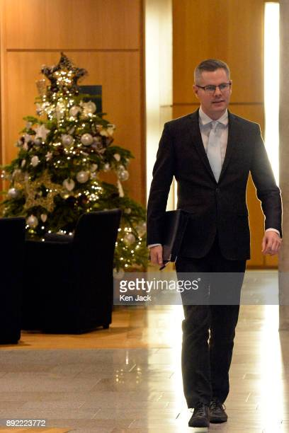 Scottish Finance Minister Derek Mackay on the way to First Minister's Questions in the Scottish Parliament shortly before presenting his budget on...