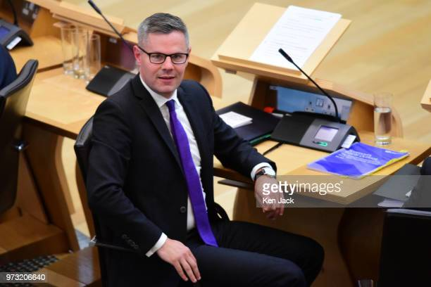Scottish Finance Secretary Derek Mackay during a Liberal Democrat debate in the Scottish Parliament on Finance which concentrated on the...
