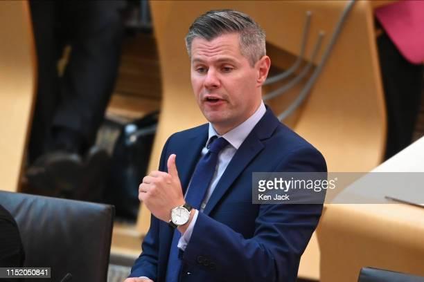 Scottish Finance Secretary Derek Mackay during Finance Portfolio Questions in the Scottish Parliament on June 26 2019 in Edinburgh Scotland