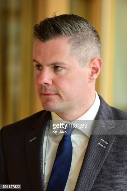 Scottish Finance Secretary Derek Mackay MSP on the way to First Minister's Questions in the Scottish Parliament on June 1 2017 in Edinburgh Scotland