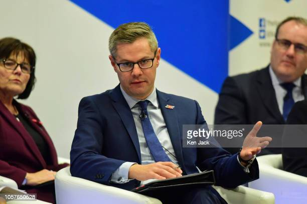Scottish Finance Secretary Derek Mackay responds to a question from the floor during a public meeting in Penicuik part of a series of Travelling...