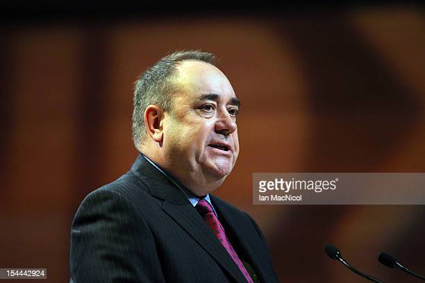 Scottish First Minister Alex Salmond speaks at The SNP Annual Conference on October 20 2012 in Perth Scotland The First Minister delivered his key...