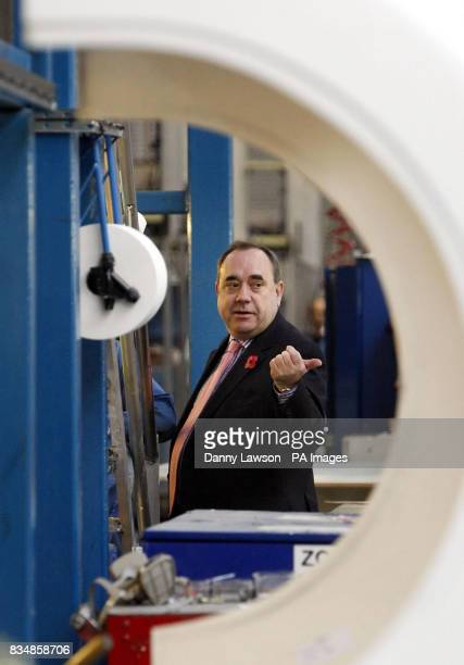 Scottish First Minister Alex Salmond visits bus manufacturer Alexander Dennis of Falkirk, who have developed a new generation of low carbon...
