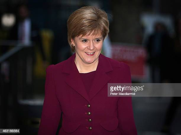 Scottish First Minister Nicola Sturgeon leaves University College London on February 11 2015 in London England The First Minister has said in a...