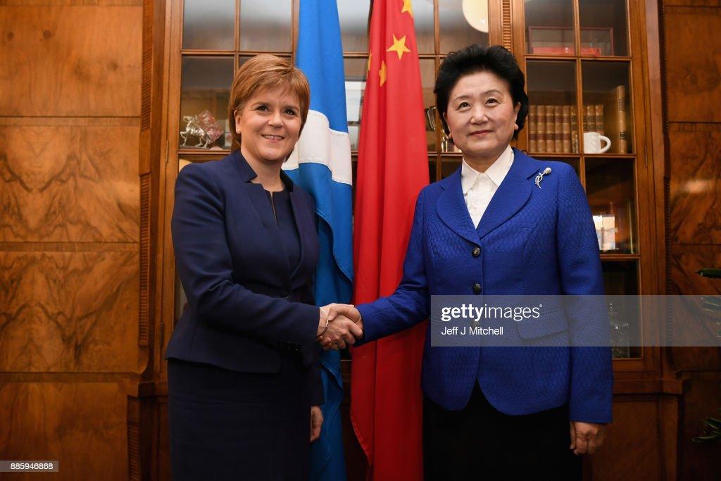 First Minister Nicola Sturgeon Meets Chinese Vice Premier Liu Yandong