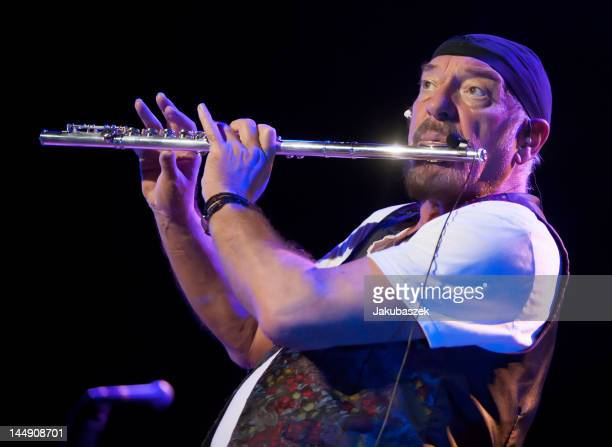 Scottish flautist Ian Anderson formerly of Jethro Tull performs live during a concert at the Tempodrom on May 20 2012 in Berlin Germany