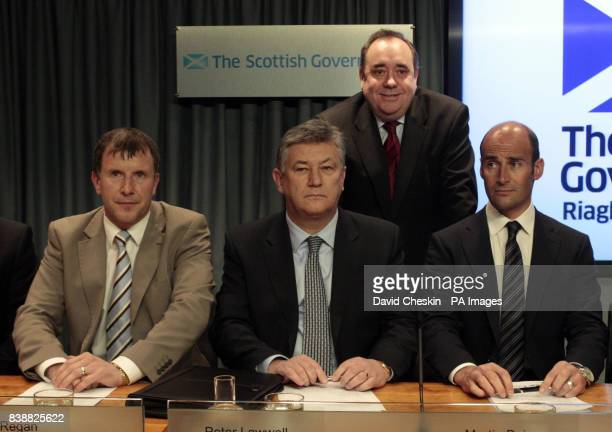 Scottish Football Association chief executive Stewart Regan Celtic chief executive Peter Lawwell Rangers chief executive Martin Bain and First...