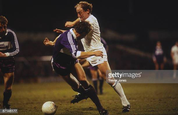 Scottish footballer Alan Brazil of Tottenham Hotspur in action against FK Austria circa 1985 Spurs went on to win 20