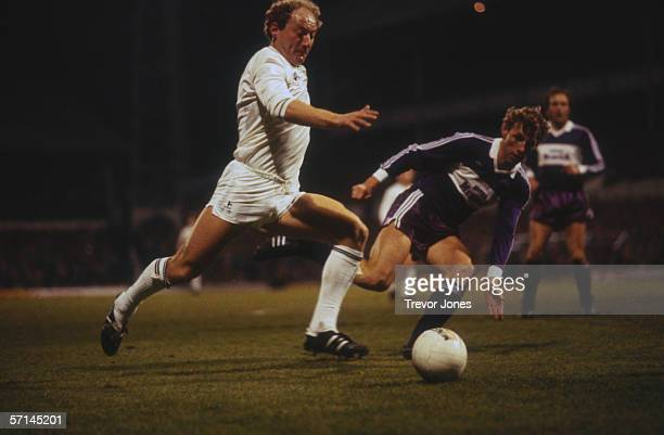 Scottish footballer Alan Brazil of Tottenham Hotspur in action against FK Austria circa 1985