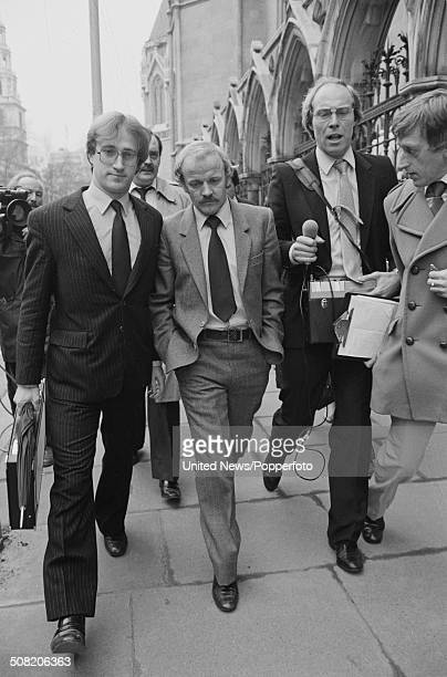 Scottish footballer Billy Bremner pictured outside the Royal Courts of Justice during his libel action against the Sunday People Newspaper for match...