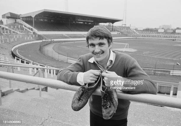 Scottish footballer Charlie Cooke, the new winger for Chelsea FC, at Stamford Bridge football stadium in London, UK, 18th January 1974.