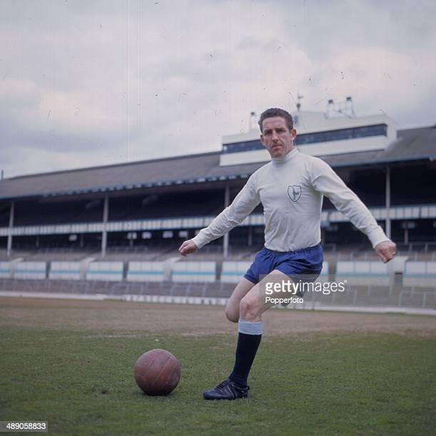 Scottish footballer Dave Mackay pictured during a training session for Tottenham Hotspur at the club's White Hart Lane Ground in London in 1967