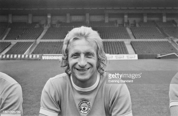 Scottish footballer Denis Law of Manchester City FC, a League Division 1 team at the start of the 1973-74 football season, UK, 30th August 1973.