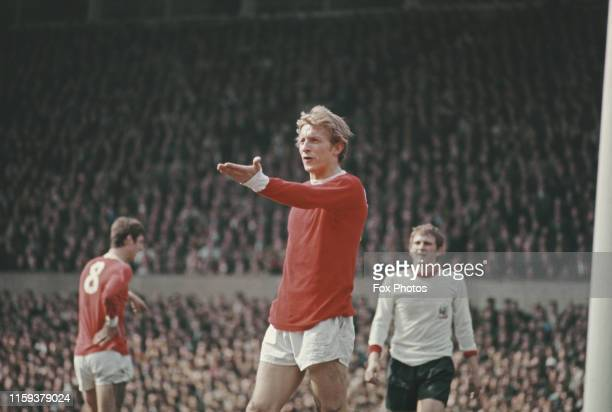 Scottish footballer Denis Law of the Manchester United and Scotland teams February 1969