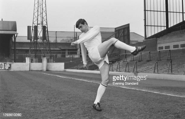 Scottish footballer Peter Lorimer of Leeds United FC, UK, April 1967.