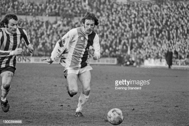 Scottish footballer Tony Taylor of Crystal Palace FC during a League Division One match against Stoke City, UK, 17th February 1973. The score was 3-2...