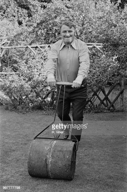 Scottish former soccer player Tommy Docherty assistant manager of Hull City AFC in his garden UK 15th September 1971