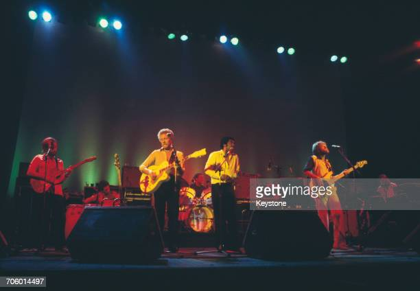 Scottish funk and RB group Average White Band performing at the Hammersmith Odeon London 1977