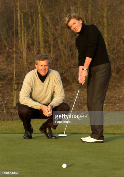 Scottish golfer Colin Montgomerie with his wife Eimear Montgomerie on the 17th January 2001