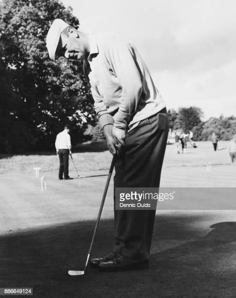 Scottish golfer Tom Haliburton takes part in the Ballantine £7000 golf tournament at Wentworth UK 5th October 1961