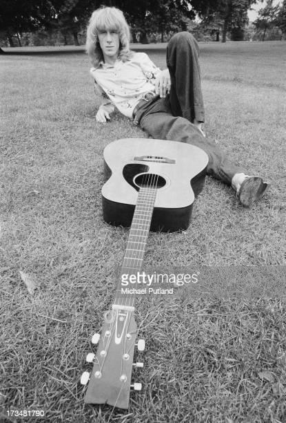 Scottish guitarist Davey Johnstone of Elton John's backing group August 1973